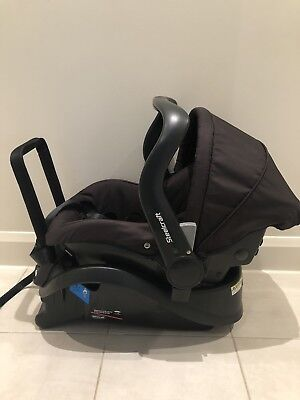 Steelcraft Cruiser infant carrier/baby car capsule Black Great Condition
