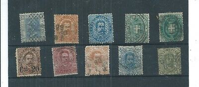 Italy.1891. King Umberto & Arms. Selection Of 10. Fine  Used. As Per Scan