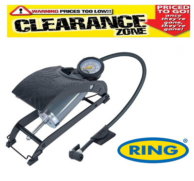 CLEARANCE Ring RPF1 Single Barrel Foot Pump - Inc Courier