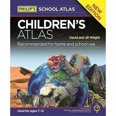 Philip's Children's Atlas by David Wright, Jill Wright (Hardback, 2016)