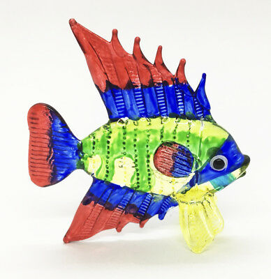 Fish Multi-Color Hand Blown Blowing Glass Art Animal Fancy Collectible gift 3