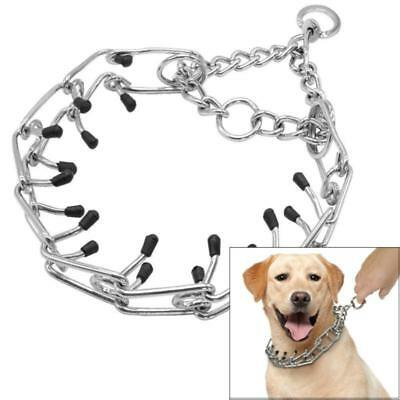 Hot Dog Collar Pinch Chain Training Choke Prong Pet Supply Metal Necklace J