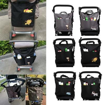 Baby Stroller Organizer Multifunctional Pushchair Large Capacity Hanging Bag J