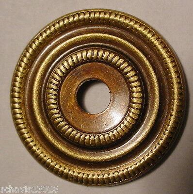 "Antique Brass Escutcheon Plate 1"" inch  Dresser Cabinet Drawer Door NOS LOT of 4"