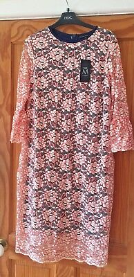 Bnwt Ladies Next Maternity Designer Lace Dress Red/white/blue Size 14 Rrp £50!