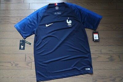 premium selection 6120b b4a7c FRANCE 100% ORIGINAL Soccer Football Jersey Shirt L 2018 World Cup Home Kit  NEW