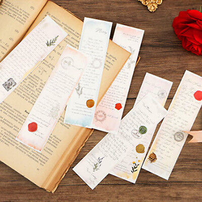 30Pcs/pack Creative Letters Exquisite Boxed Bookmark Message Card Supply Gift ST