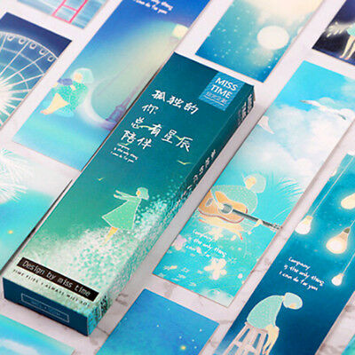 30Pcs/box Lonely You Series Exquisite Boxed Bookmark Message Card Supply Gift ST