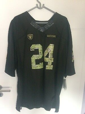 Oakland Raiders Jersey LYNCH #24 Salute to Service XL