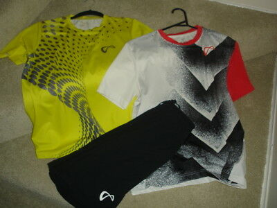 Boys Sports/tennis Clothes By Athletic Dna 2 Shirts And 1 Shorts Youth M/l