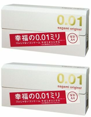 Sagami Original 001 0.01 mm Condom Japan - 1pk, 2 packs, 1 Box and 2 Boxes 2018