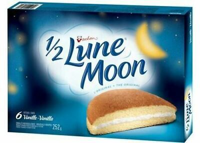 Vachon Vanilla 1/2 Lune Moon Cakes, 1 Box 8.8oz {Imported from Canada}