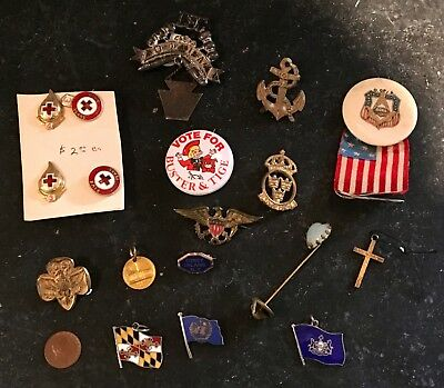 Pins & Medals ~ Lot of 19 ~ Various