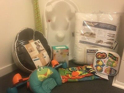 Bull Lot Of Baby Items Bath Wipe Warmer Gym Nursing Pillow