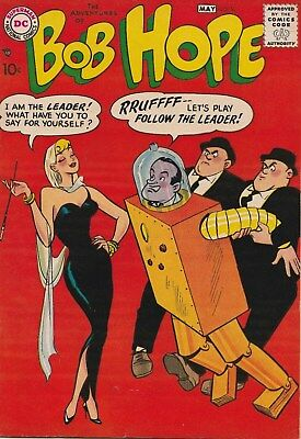 The Adventures Of Bob Hope Number 50.  10 Cent Dc Comic. 1958. Screen Humour Gga