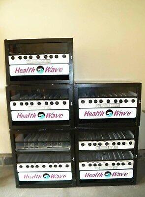 ***lot Of 5*** Health Wave Mechanical Snack Vending Machines And Stands
