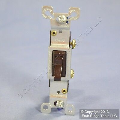 Eagle Brown Single Pole Quiet Toggle Wall Light Switch 15A 120/277V Bulk 1301B
