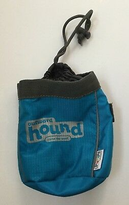 Outward Hound Treat Pouch Portable Blue Gray Drawstring Tote Clip