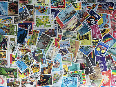 Ghana Collection Of 110 Different Used & Unused Stamps