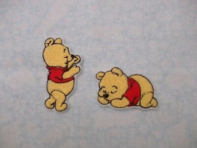 baby winnie the pooh pack of 2  motif patch transfer.