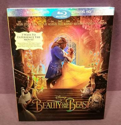 Beauty and the Beast! Blu-Ray with Slipcover 2017 Disney Emma Watson