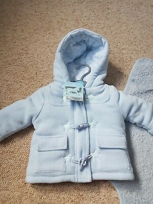 Baby boy duffle coat 0-3 months new with tags