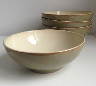 "A Denby Camelot Cereal / Soup Bowl 4 Available Light Greystone 6 1/2"" / 16.5cm"