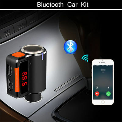 1PC Mini Bluetooth Hands-free Car Charger Dual USB Music Play FM Transmitter
