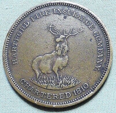Rare 1915 Panama Pacific World's Fair Token - Hartford Insurance Co. - Item 256