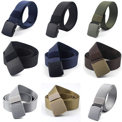 Men's Military Outdoor Sport Military Tactical Nylon Waistband Canvas Web Belt@