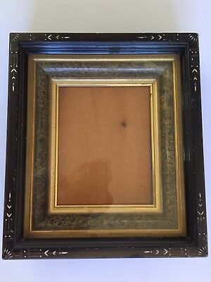 """Antique Victorian Shadow Box Frame 13 1/2"""" X 15 1/4"""" Opening  7 1/2"""" X 9 1/2"""""""