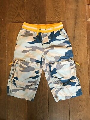 Boys Mini Boden camouflage shorts with pockets age 9
