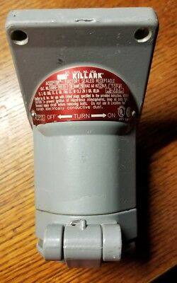 Killark Ugro-20232 Explosion Proof Factory Sealed Receptacle 20 Amp 250 Vac 2 Hp