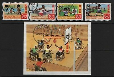 Antigua  SG728-SG731 + MS732 1982 Int Year for Disabled  Very Fine Used