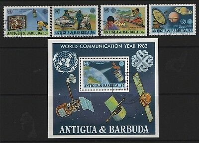 Antigua & Barbuda SG658-SG661 + MS662 1982 World Comm Year  Very Fine Used
