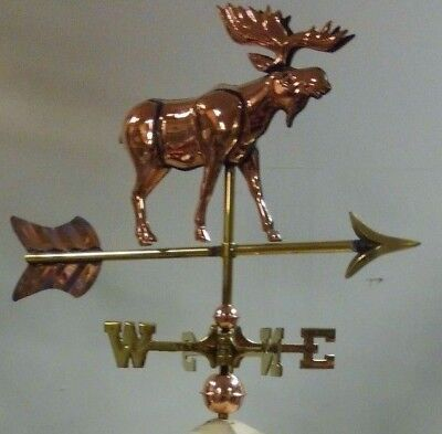 3d copper moose weathervane / roof mount for a shed or small building 19''x21''