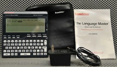 Franklin LM-6000SE talking Dictionary w/AC adapt. for blind or visually impaired
