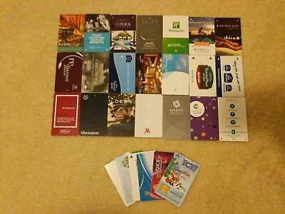 27 Various Collectible Hotel Room Key Cards