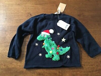 Next Christmas Jumper Boys Girls 12-18 Months Bnwt