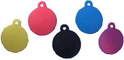 80 IMARC Pet ID SMALL Circle tags Anodized Aluminum Blank