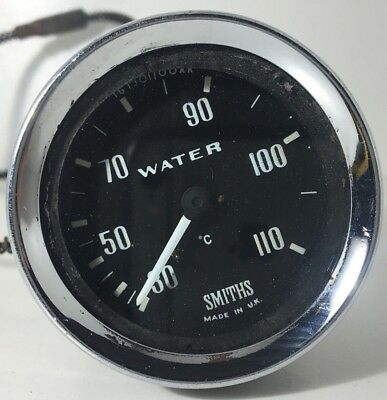 Smiths Water Temperature Gauge 30-110°C Mg Ford Triumph Land Rover