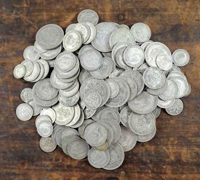 1kg ONE KILO BRITISH PRE-47 SILVER COINS - 3D to HALF CROWN - 1920s to 1946 (4)