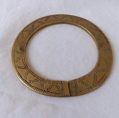 Antique Cast Bronze Armlet Money Currency  African Trade Bracelet Band