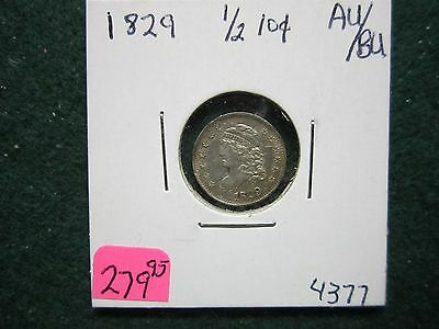 1829  Half Dime Capped Bust