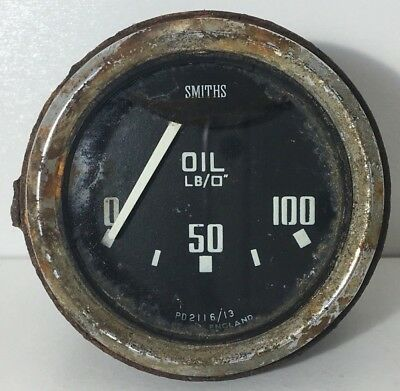 Smiths Classic Oil Pressure Gauge Mini Land Rover Mg Mgb Ford - Pd 2116/13