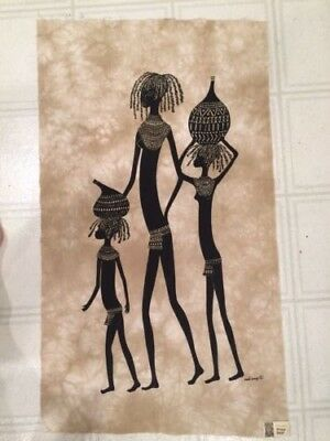 """Three Sisters"" Signed Heidi Lange Screen Print , Handmade In Kenya"