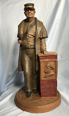 Vintage Resin Confederate Soldier 1861-1865 Statue by Thomas F. Clark #70 1986
