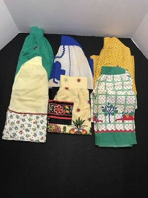 Lot Of Six Vintage Aprons...LQQK