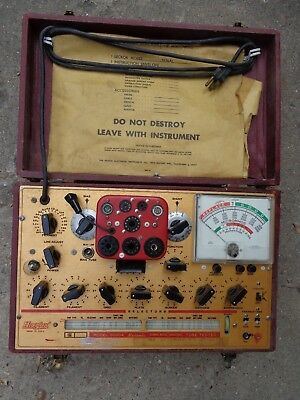 Hickok 6000A Vintage Tube Tester With Original Owner's Manual, Charts & More!