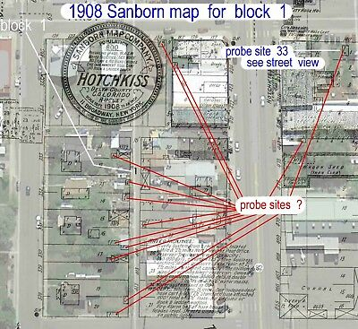 Hotchkiss, Colorado~Sanborn Map©sheet made in 1908 with 1 Map sheet